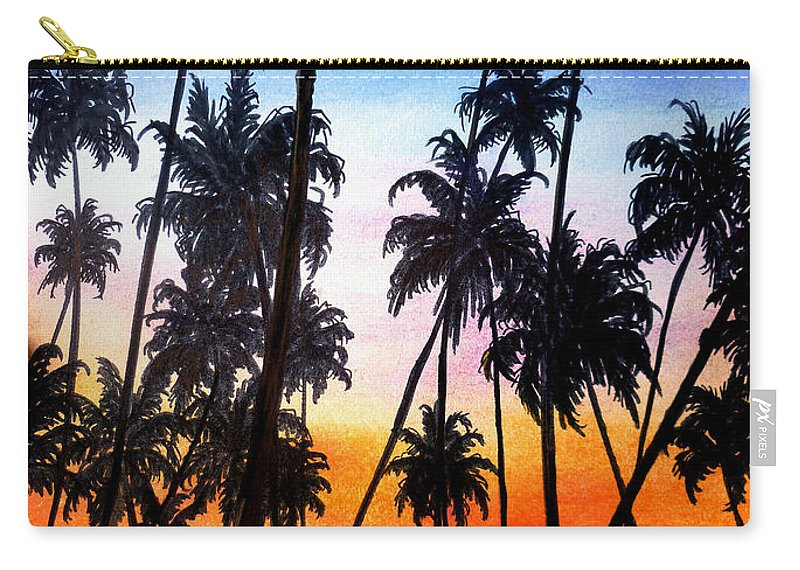 Tropical Carry-all Pouch featuring the pastel Mayaro Red Dawn by Karin Dawn Kelshall- Best