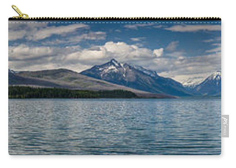 Glacier Carry-all Pouch featuring the photograph Mcdonald Lake Super Panorama by Greg Nyquist