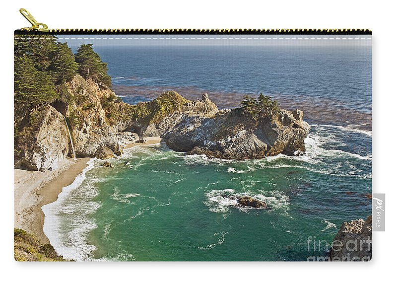 Rocky Carry-all Pouch featuring the photograph Mcway Falls by Jim Chamberlain