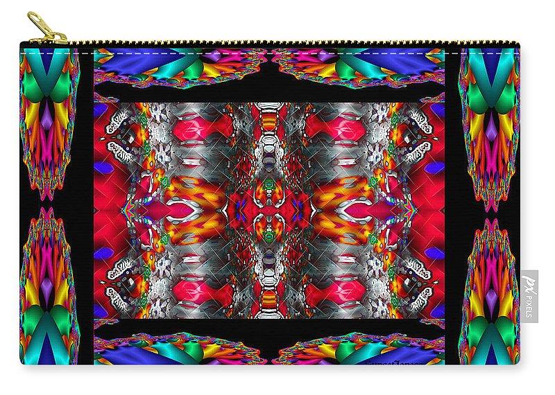 Indian Carry-all Pouch featuring the digital art Medicine Man by Robert Orinski