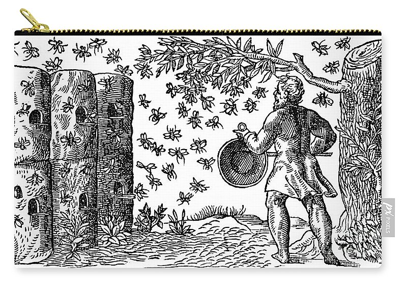 Agriculture Carry-all Pouch featuring the photograph Medieval Apiary by Science Source
