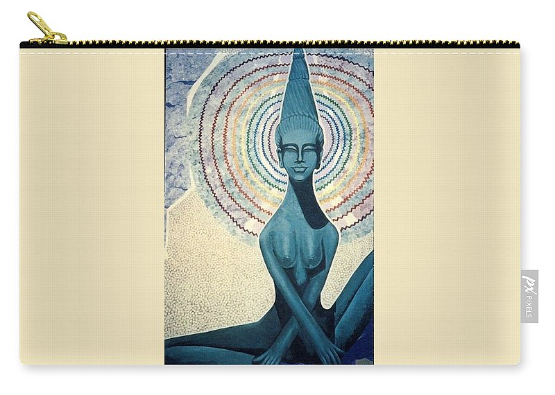 Meditation Carry-all Pouch featuring the painting Meditation by Richard Laeton