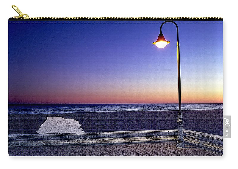 Mediterranean Sea Carry-all Pouch featuring the painting Mediterranean Sea At Motril by Mike Penney