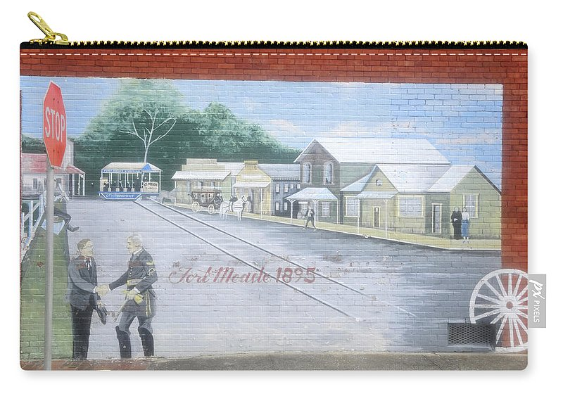 Fine Art Photography Carry-all Pouch featuring the photograph Meeting At Fort Meade by David Lee Thompson