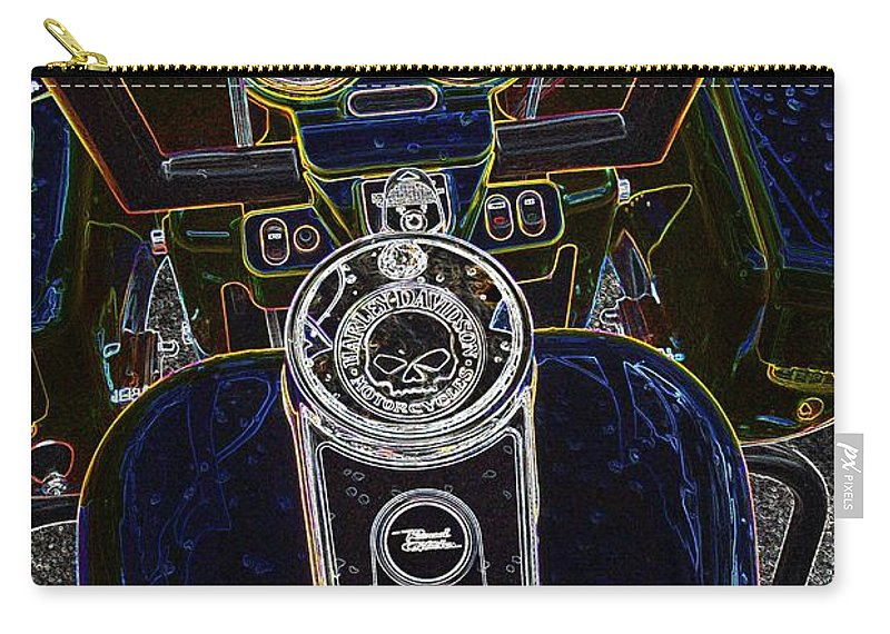 Motorcycle Carry-all Pouch featuring the photograph Mega Tron by Anthony Wilkening