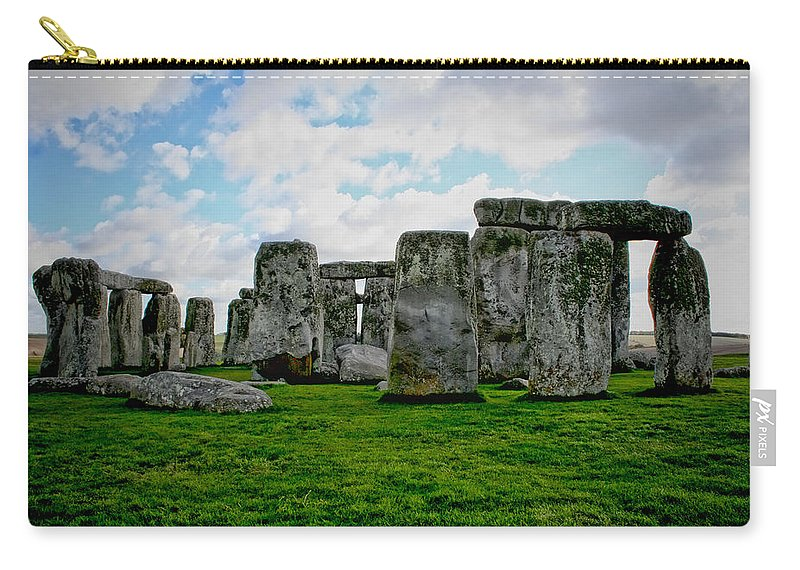 Stonehenge Carry-all Pouch featuring the photograph Megaliths by Heather Applegate