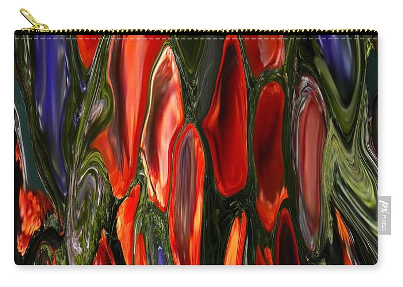 Abstract Carry-all Pouch featuring the painting Melting Wax by Renate Nadi Wesley