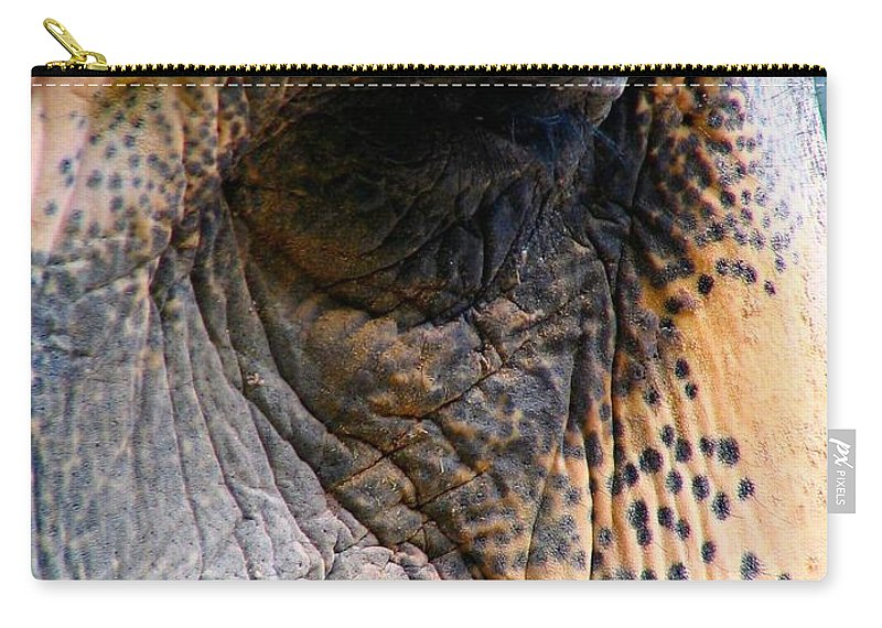 Elephant Carry-all Pouch featuring the photograph Memory by Art Dingo