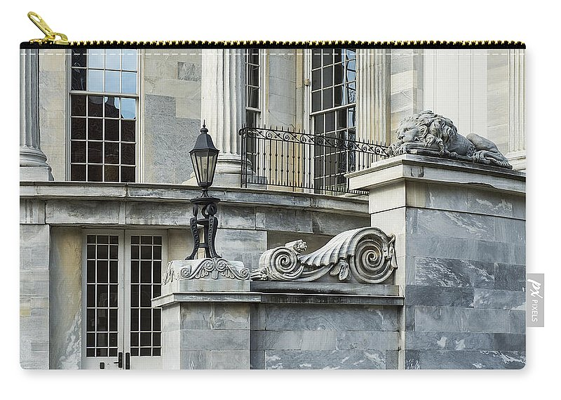 Americana Carry-all Pouch featuring the photograph Merchant Exchange Philadelphia by John Greim