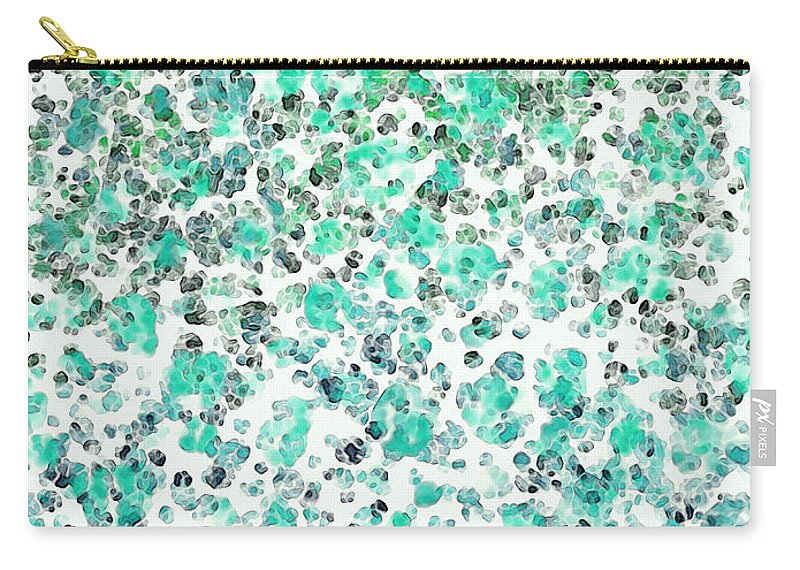 Abstract Carry-all Pouch featuring the digital art Mermaid Dreams Abstract by Debbie Portwood