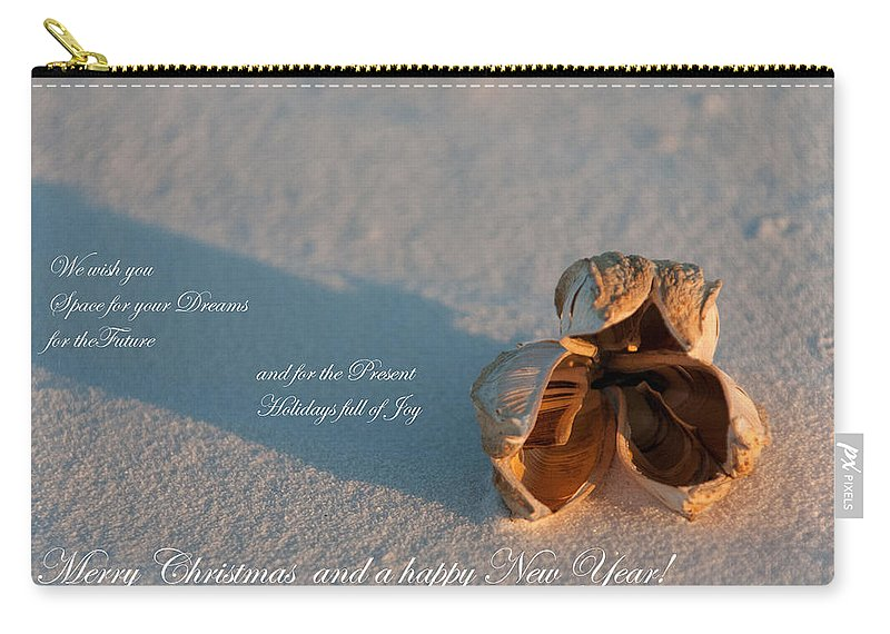 Merry Christmas Carry-all Pouch featuring the photograph Merry Christmas by Ralf Kaiser