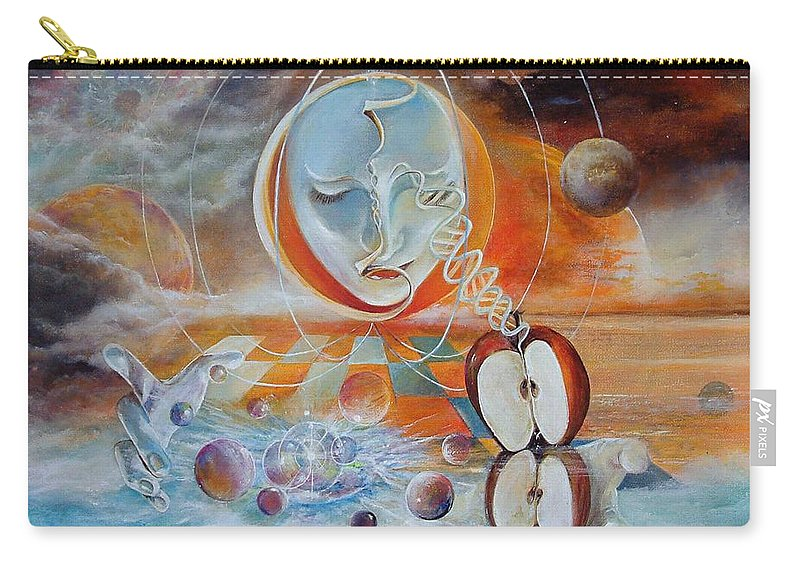 Fantasy Carry-all Pouch featuring the painting Meru by Penny Golledge