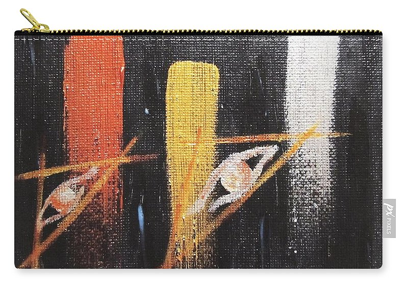 Surreal Carry-all Pouch featuring the painting Message From The Future II. by Marianna Mills