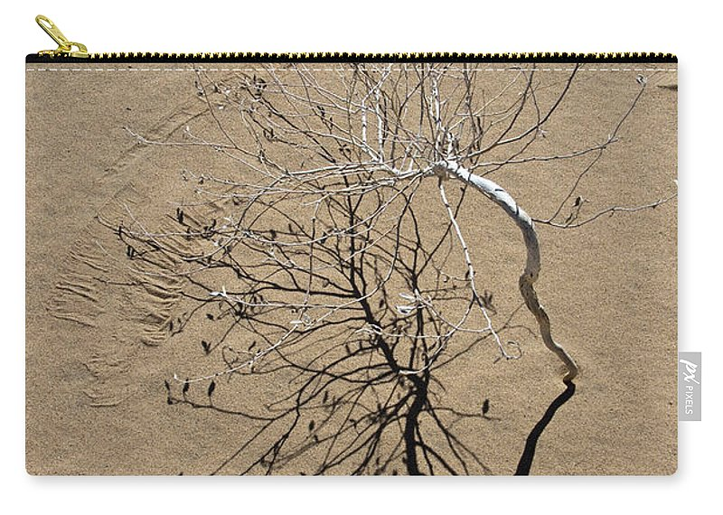 Sand Dune Carry-all Pouch featuring the photograph Message In The Sand by Chris Brannen