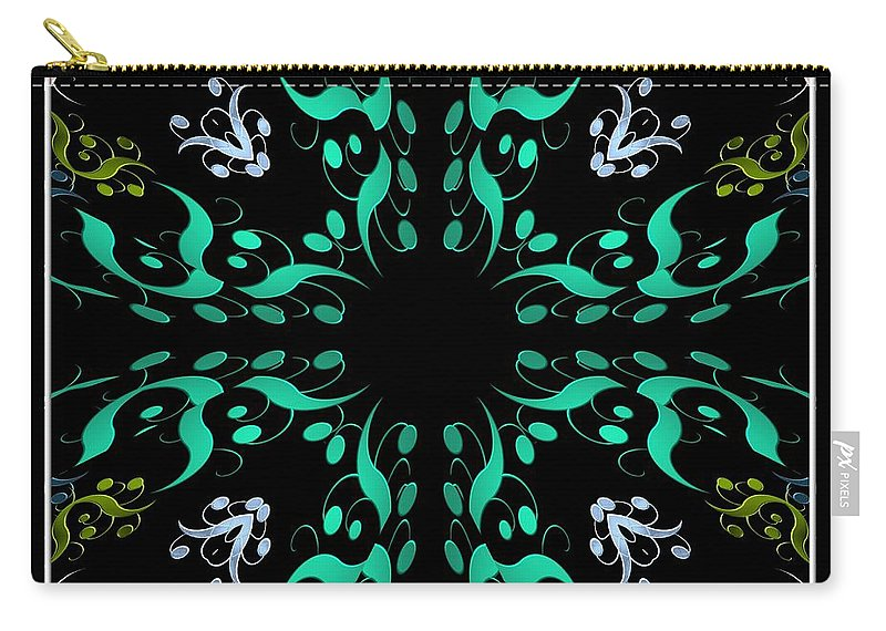 Metallics Carry-all Pouch featuring the photograph Metallic Flourishes Warp 3 by Rose Santuci-Sofranko