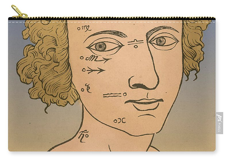 Metoposcopia Carry-all Pouch featuring the photograph Metoposcopy, 17th Century by Science Source
