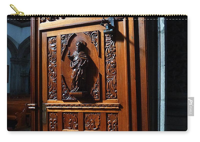 Mesoamerica Carry-all Pouch featuring the photograph Mexican Door 3 by Xueling Zou