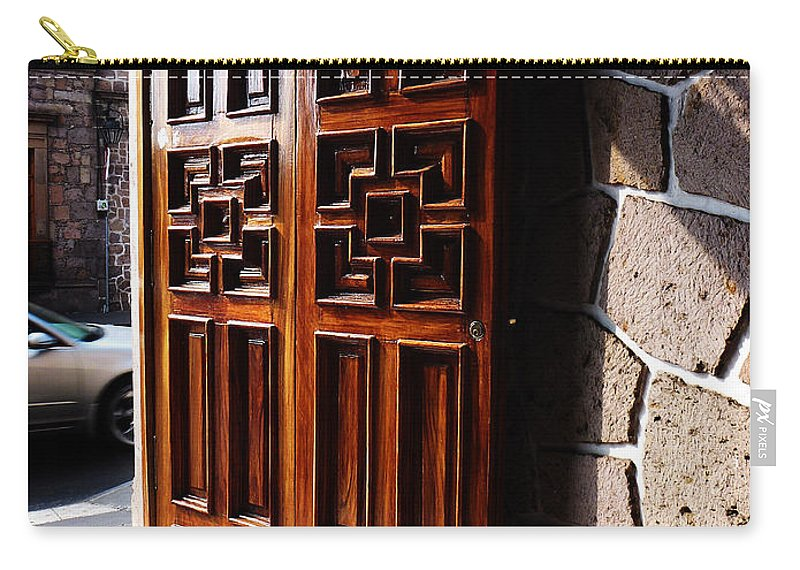 North America Carry-all Pouch featuring the photograph Mexican Door 42 by Xueling Zou