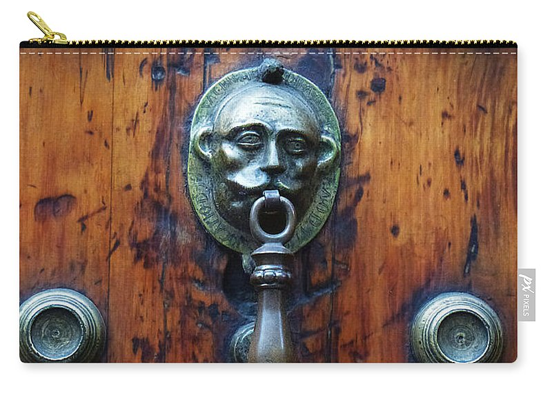 North America Carry-all Pouch featuring the photograph Mexican Door Decor 13 by Xueling Zou