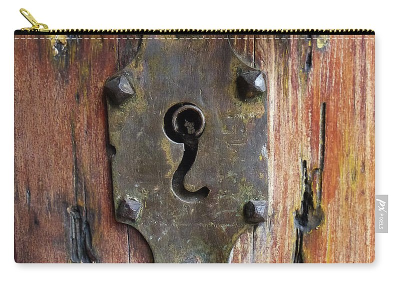 Mexico Carry-all Pouch featuring the photograph Mexican Door Decor 7  by Xueling Zou