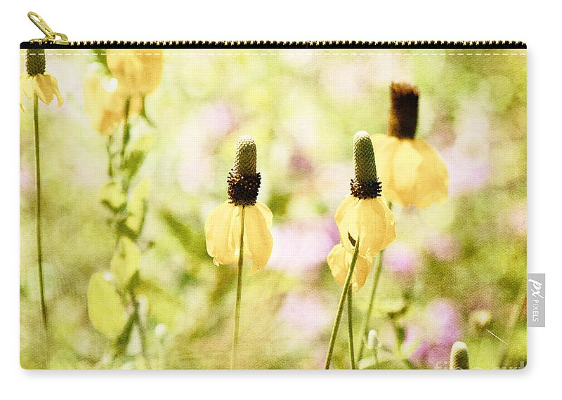 Flowers Carry-all Pouch featuring the photograph Mexican Hat In Yellow by Pam Holdsworth