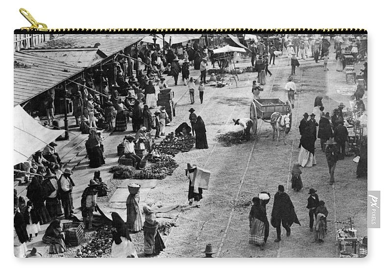 mexico City Carry-all Pouch featuring the photograph Mexico City - C 1901 by International Images