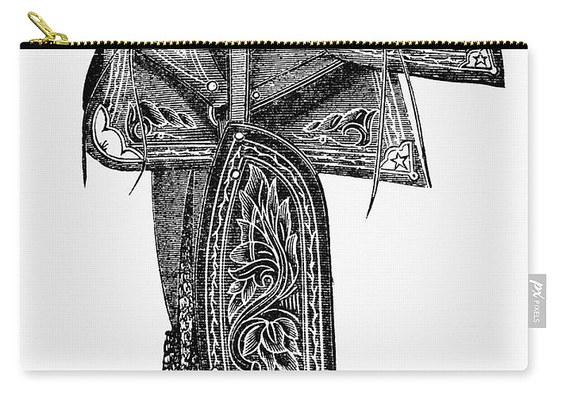 1882 Carry-all Pouch featuring the photograph Mexico: Saddle, 1882 by Granger