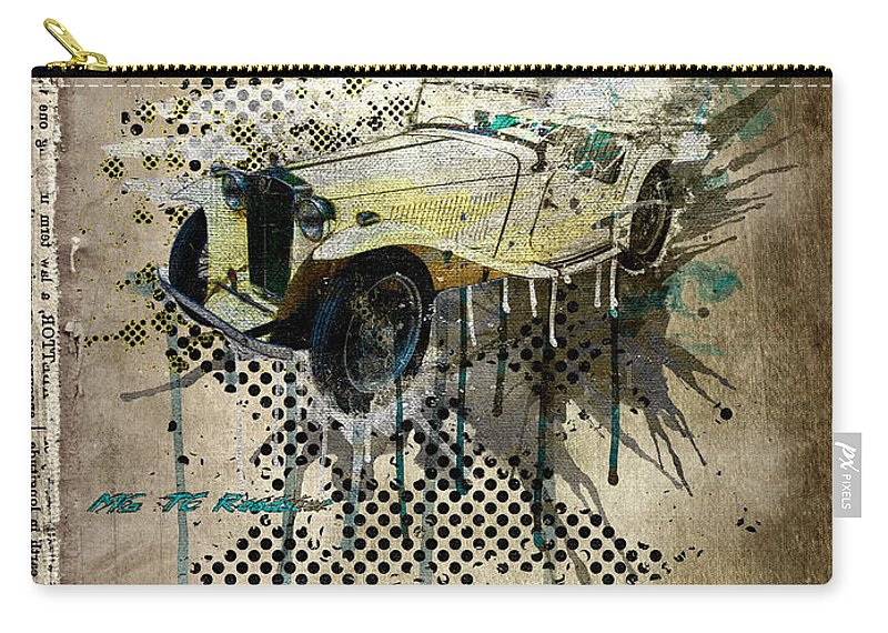 Active Carry-all Pouch featuring the digital art Mg Tc Roadster by Svetlana Sewell