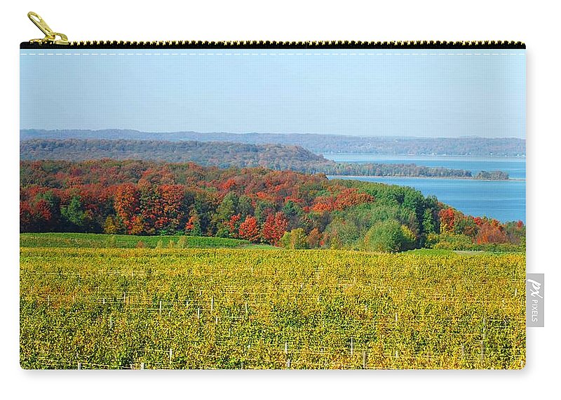 Optical Playground By Mp Ray Carry-all Pouch featuring the photograph Michigan Winery Views by Optical Playground By MP Ray
