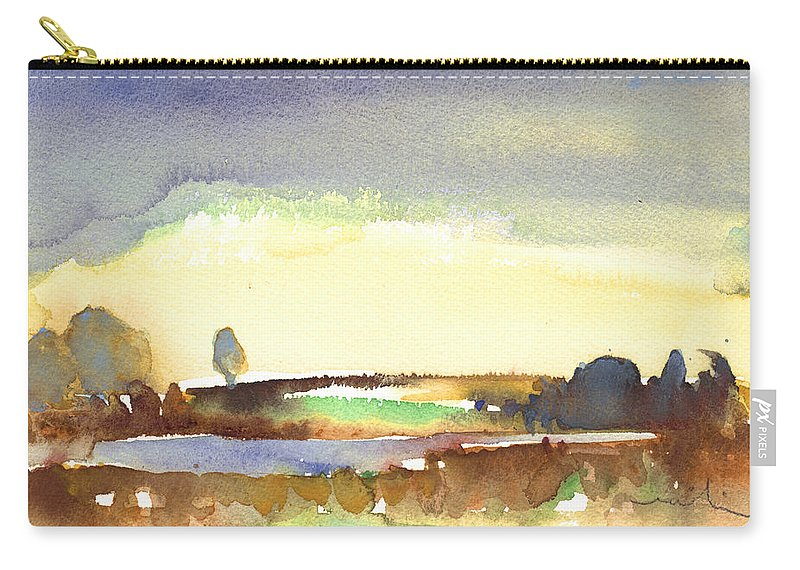 Midday Carry-all Pouch featuring the painting Midday 27 by Miki De Goodaboom