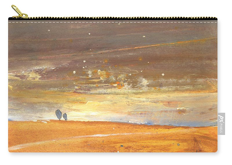 Landscapes Carry-all Pouch featuring the painting Midday 29 by Miki De Goodaboom