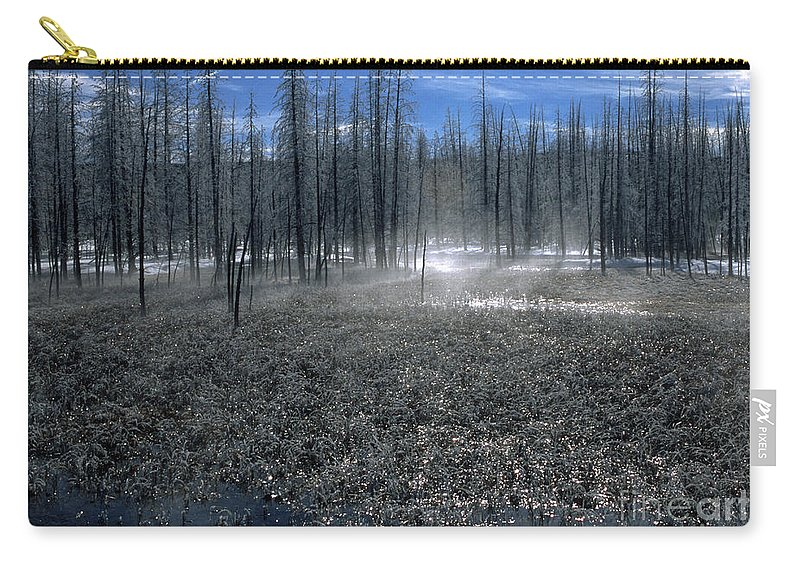 Bronstein Carry-all Pouch featuring the photograph Midway Geyser Area by Sandra Bronstein