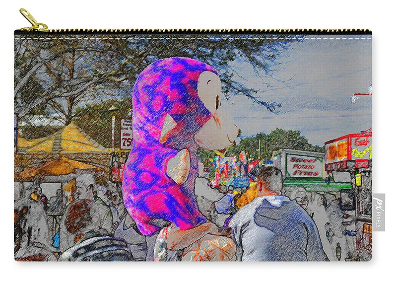 Art Carry-all Pouch featuring the painting Midway Prize by David Lee Thompson