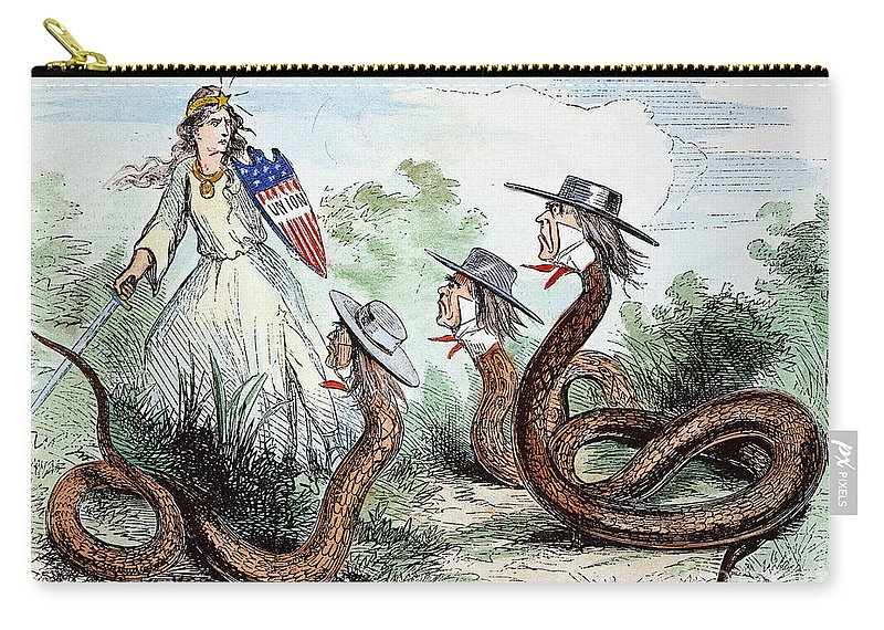 1863 Carry-all Pouch featuring the photograph Midwest Copperheads, 1863 by Granger