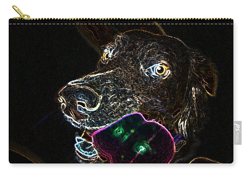 Dogs Carry-all Pouch featuring the photograph Miko - Glow by Priscilla De Mesa
