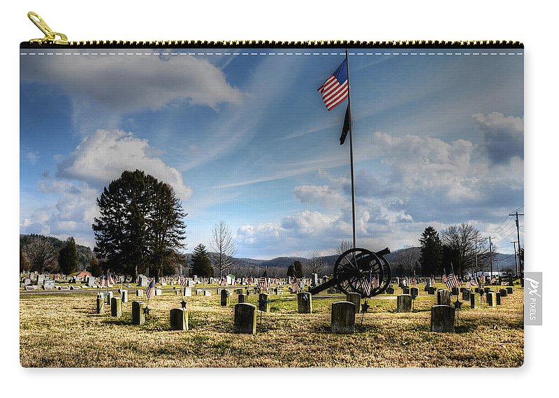 Cemetery Carry-all Pouch featuring the photograph Military Honors by Shirley Tinkham
