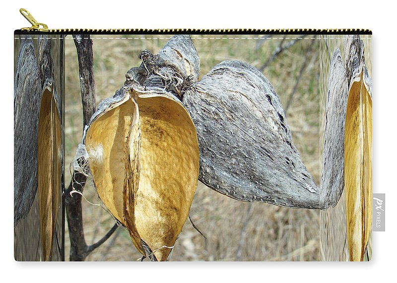 Milkweed Carry-all Pouch featuring the photograph Milkweed Pods - Mirror Box by Mother Nature