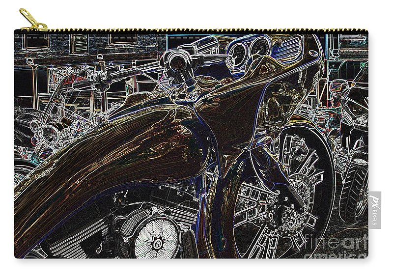 Motorcycle Carry-all Pouch featuring the photograph Millennium Clone by Anthony Wilkening