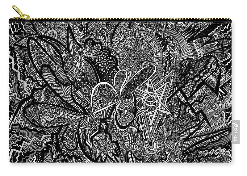 New Carry-all Pouch featuring the drawing Mind Map by Karen Elzinga