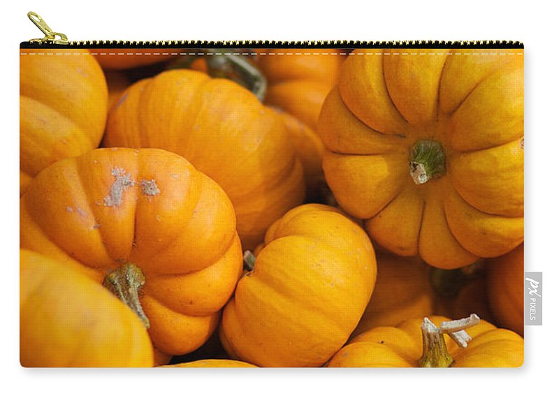 Fall Squash Carry-all Pouch featuring the photograph Mini Pumpkins by Brooke Roby