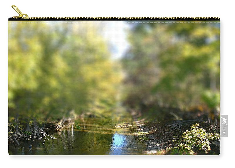 Tiltshift Carry-all Pouch featuring the photograph Mini Stream by Ericamaxine Price