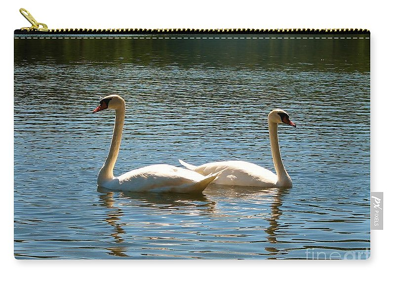 Lake Carry-all Pouch featuring the photograph Mirror Image by Art Dingo