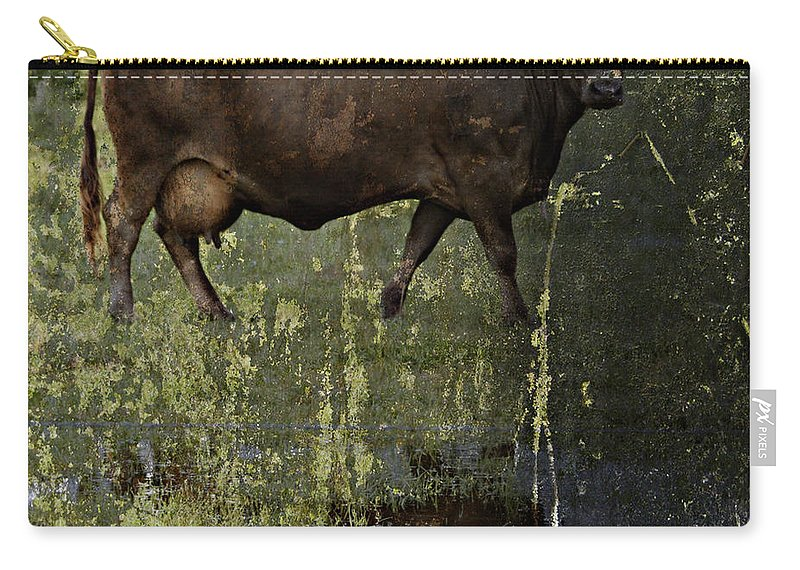 Jerry Cordeiro Carry-all Pouch featuring the photograph Mirrored Moos by The Artist Project