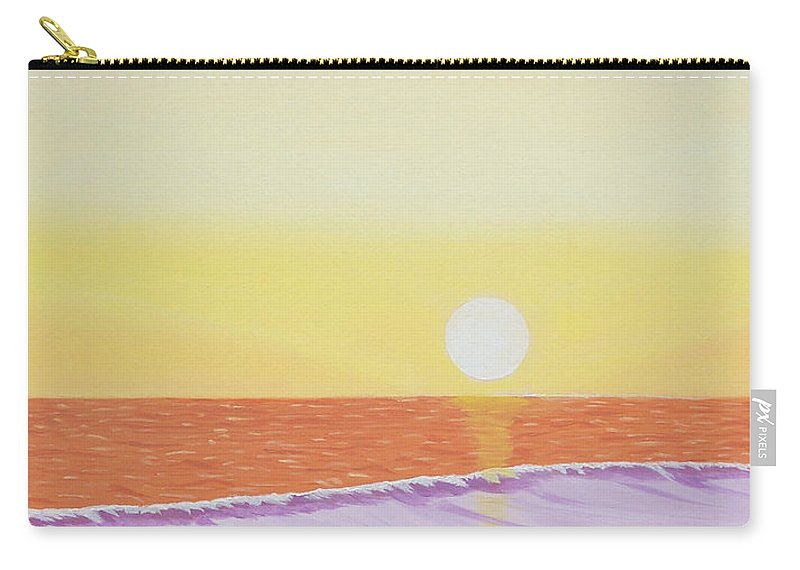 Mission Beach Carry-all Pouch featuring the painting Mission Beach by Don Monahan