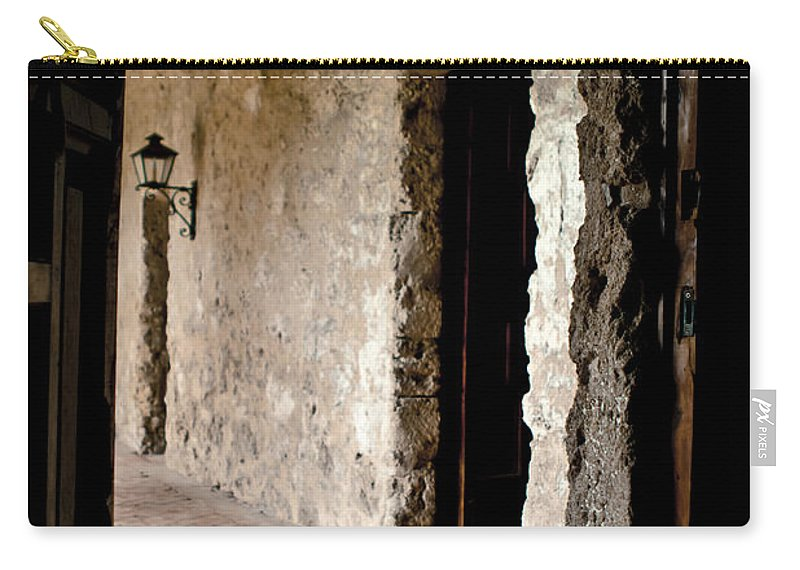 San Antonio Missions Carry-all Pouch featuring the photograph Mission Concepcion by Kim Henderson