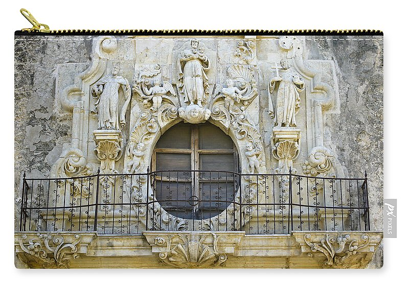 Texas Carry-all Pouch featuring the photograph Mission San Jose by Michele Burgess