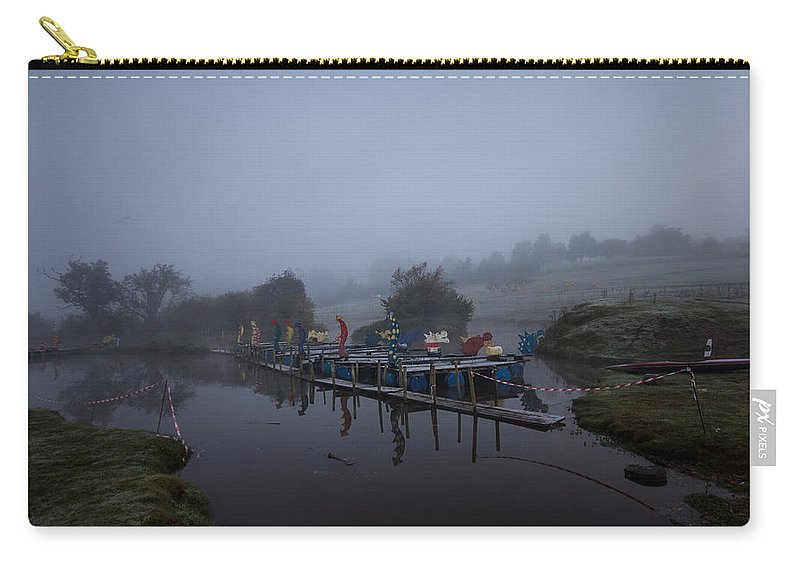 Mist Carry-all Pouch featuring the photograph Misty Landscape by Dawn OConnor