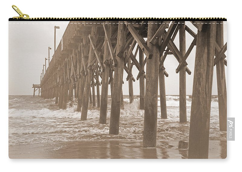 Surf Carry-all Pouch featuring the photograph Misty Morning by Betsy Knapp