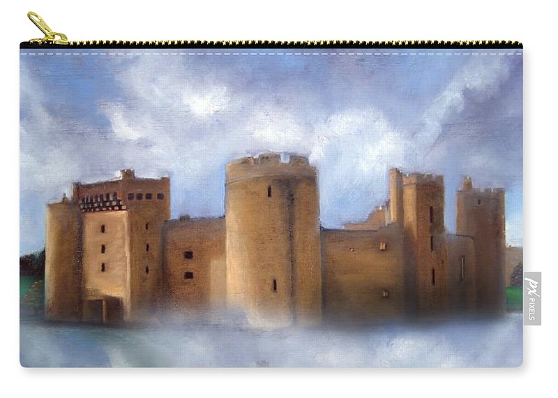 Scotland Carry-all Pouch featuring the painting Misty Romantic Scotland by Georgiana Romanovna