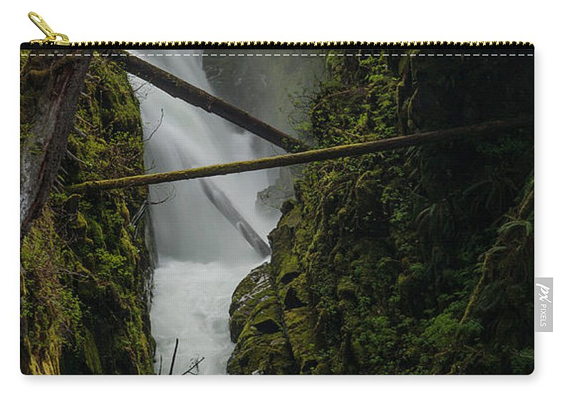 Olympic National Park Carry-all Pouch featuring the photograph Misty Torrent by Mike Reid